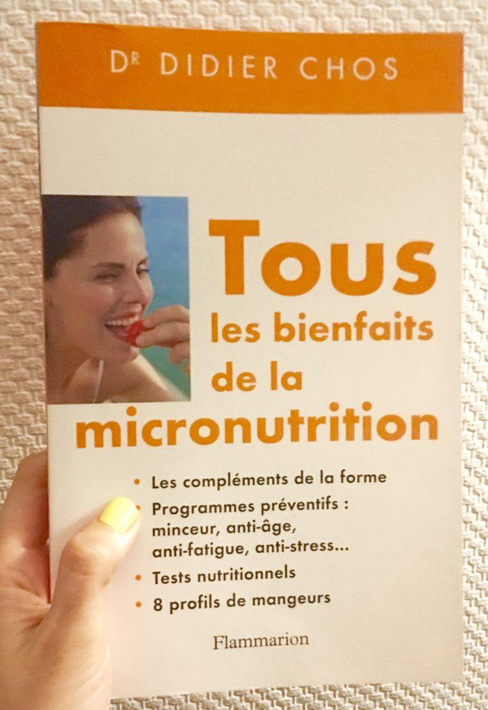 livre de didier chos sur la micronutrition